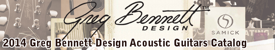Greg Bennett Design Acoustic Guitars Catalog